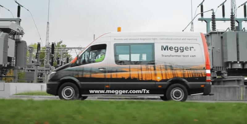 Megger Camioneta para ensayo integral de transformadores